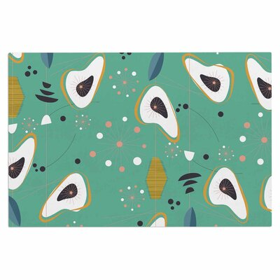 Teal Retro Steaks Doormat