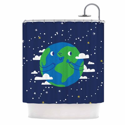 Happy Earth Shower Curtain