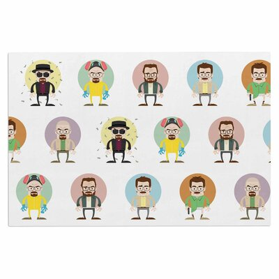 The Stages of Walter White Breaking Bad Decorative Doormat