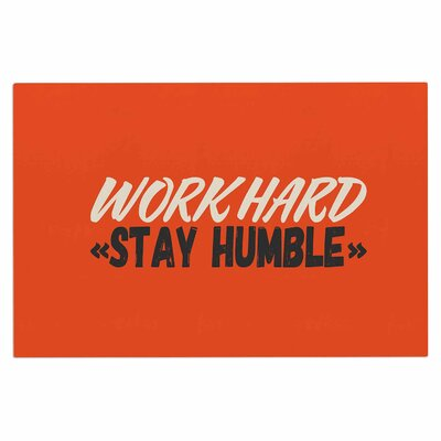 Work Hard Stay Humble Digital Vintage Decorative Doormat