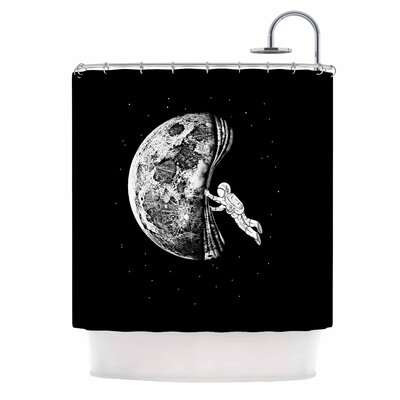 'The Night Has Come' Shower Curtain