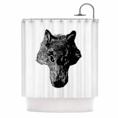 Black Coyote Shower Curtain