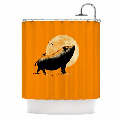 Barking Pig Shower Curtain