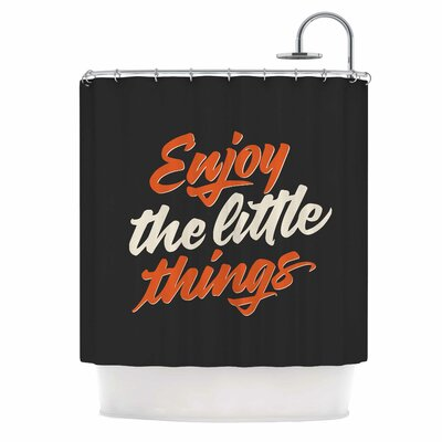 'Enjoy the Little Things' Vintage Shower Curtain