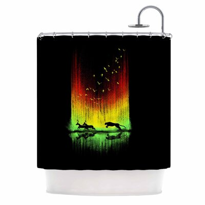 Give Chase Digital Shower Curtain