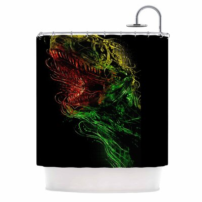 Killing Machine Digital Shower Curtain
