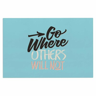 Go Where Others Will Not Vintage Decorative Doormat