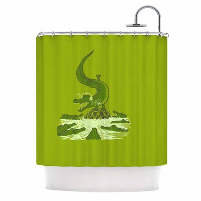 Breakdance Crocodile Shower Curtain
