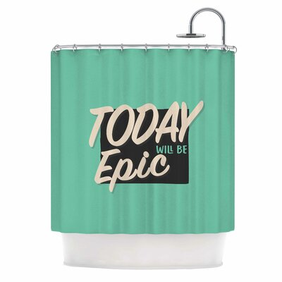 Epic Day Vintage Shower Curtain