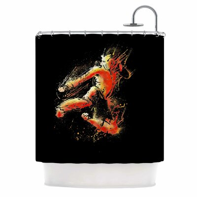 'Strong Fighter' Shower Curtain