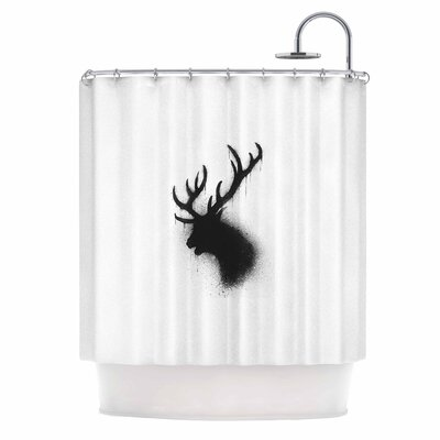 Dark Deer Shower Curtain