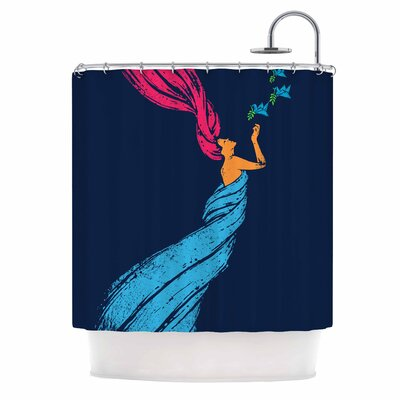 Welcomes Peace Illustration Shower Curtain