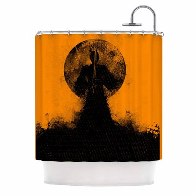 Black Samuari Shower Curtain