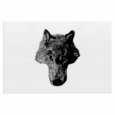 Black Coyote Doormat