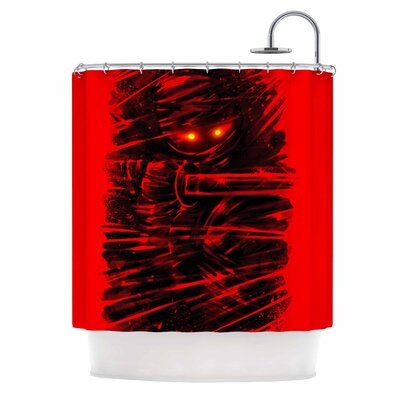 Dark Ninja Shower Curtain