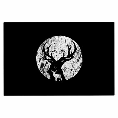 Deer at Night Doormat