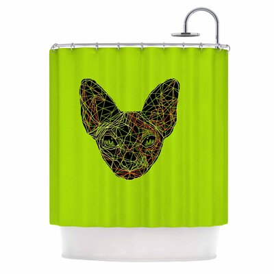 Geometry Sphynx Shower Curtain
