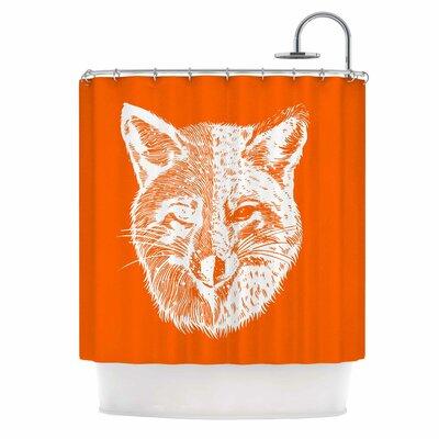 Foxface Digital Shower Curtain