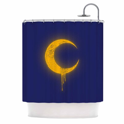 Melting Moon 2 Digital Shower Curtain