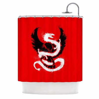 Eagle Dragon Illustration Shower Curtain