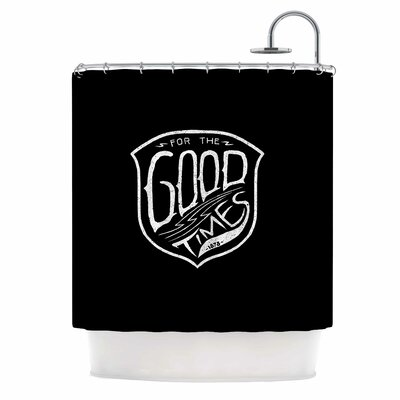 For the Good Time Illustration Shower Curtain