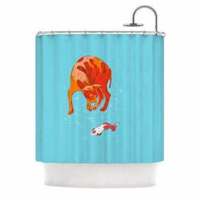 Koi Cat Shower Curtain