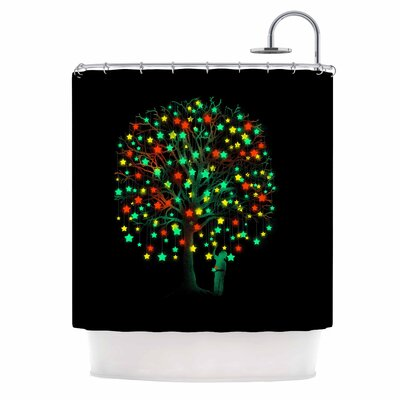 Picking Stars Digital Shower Curtain
