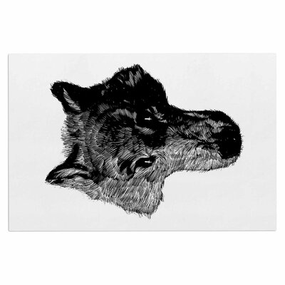 Black Head Coyote Doormat