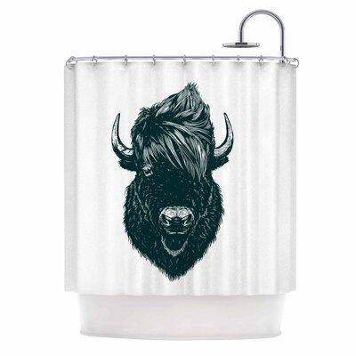 Mohawk Buffalo Digital Shower Curtain
