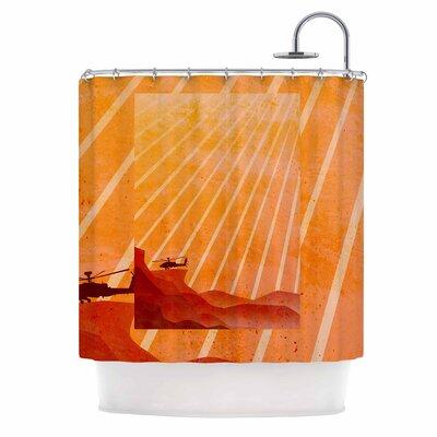 Landed Illustration Shower Curtain