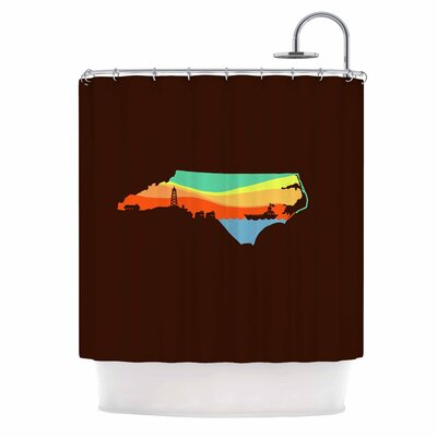 North Carolina Digital Shower Curtain