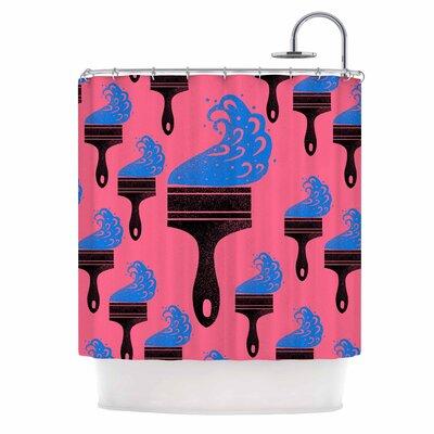 Paintbrush Digital Shower Curtain