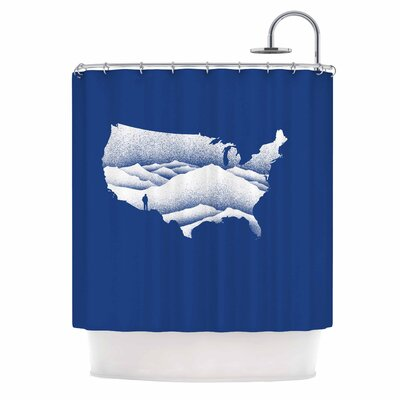 Natural Wonder Usa Digital Shower Curtain