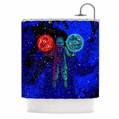 King of Planets Digital Shower Curtain