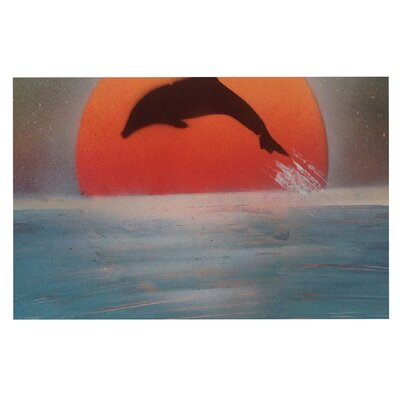 Dolphin Sunset Doormat