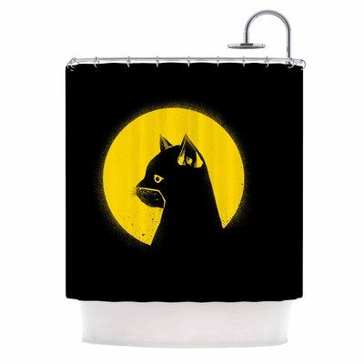 Hero Cat Digital Shower Curtain