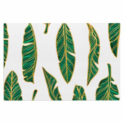Banana Leaf Gold Doormat