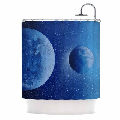 'Interplanetary Alignments' Mixed Media Shower Curtain