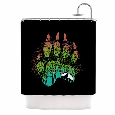 Panda Track Digital Shower Curtain