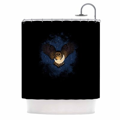 Catch the Moon Digital Shower Curtain