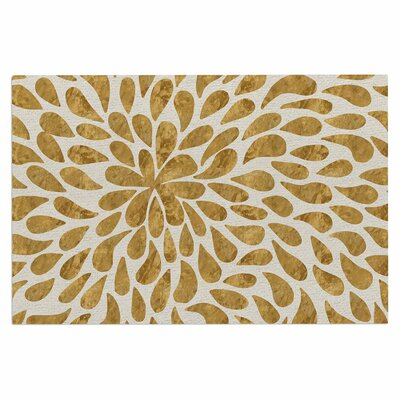 Abstract Golden Flower Doormat