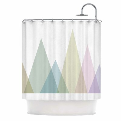 Many Peaks Illustration Shower Curtain