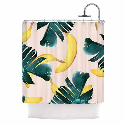 Banana Leaves & Fruit Mixed Media Shower Curtain