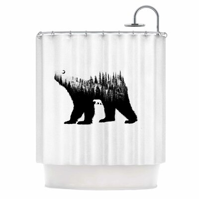 The Bear Illustration Shower Curtain