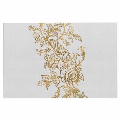Golden Vintage Rose Doormat