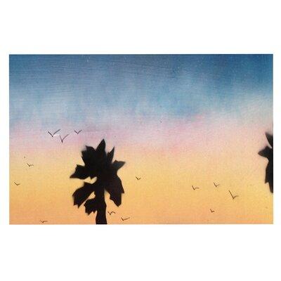 Carlsbad Sunset Coastal Painting Decorative Doormat
