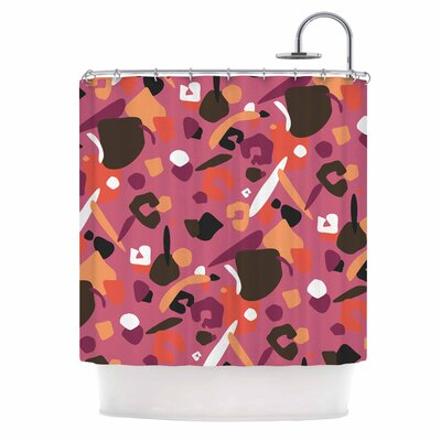 Abstract Leopard Shower Curtain