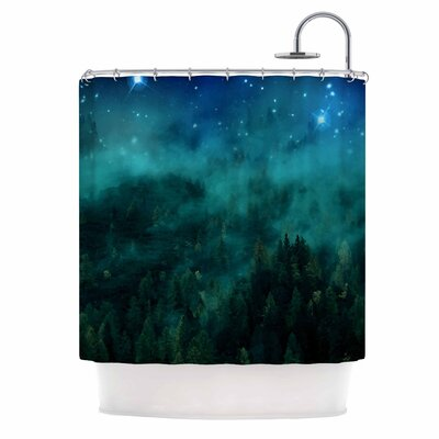 Forest Night Digital Shower Curtain