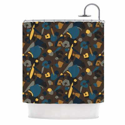 Abstract Leoparc Shower Curtain