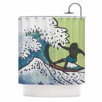 Hokusai Remake Shower Curtain